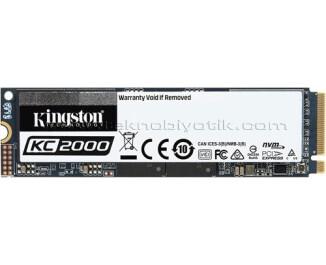 Kingston KC2000 500GB 3000/2000 MB/s NVMe M2 SSD (SKC2000M8/500G)