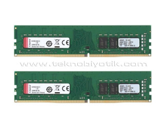 Kingston DDR4 8GB(2x4GB) 2666Mhz Bellek (KVR26N19S6K2/8)
