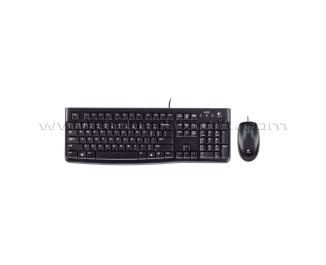 Logitech MK120 Kablolu Klavye Fare Seti USB (Siyah) (920-002560)