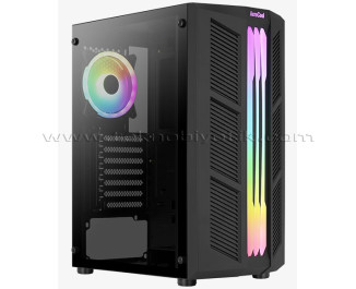 Aerocool Prime ARGB v4, Full Tempered Glass Yan Panel, Adreslenebilir RGB Fanlı, Led Şeritli Mesh Ön Panel, USB 3.0 Bilgisayar Kasası (AE-PRM-V4)