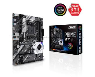 Asus PRIME X570-P AM4 Socket, 4400 MHz (OC) DDR4, M.2 SSD, USB 3.2 Gen2, RGB LED, ATX Oyuncu Anakart