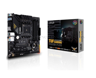 ASUS TUF GAMING B550M-PLUS AM4, DDR4, 4400mHz, DP, HDMI, Çift M2, USB3.2, ARGB, ATX Anakart