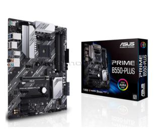 ASUS PRIME B550-PLUS AMD AM4, DDR4, 4400 mHz, DP, HDMI, Çift M2, USB3.2, ARGB  ATX  Anakart