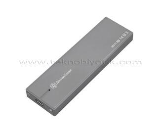 Silverstone MS11C USB3.1 Type A&C - M.2 NVMe SSD 10000MB/s Destekli Harici Disk Kutusu (SST-MS11C)
