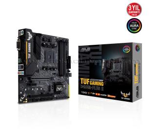 ASUS TUF B450M-PLUS II GAMING Socket AM4, DDR4 4400Mhz(O.C.), M.2, USB 3.1 USB3.2 Gen2, HDMI, DVI, RGB mATX Anakart