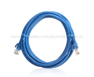 TX 1m Cat5E CCA Solid UTP Mavi Network Kablosu (TX-CB-NT5U100BU)