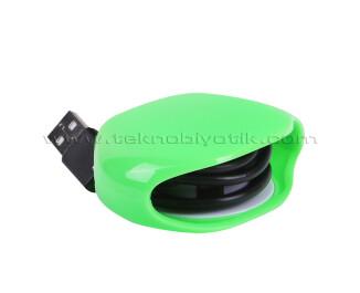 TX Kablo Toplayıcı, Toparlayıcı, Düzenleyici Kablo Organizatörü Yeşil (TXACCWG)