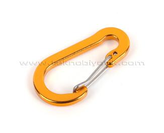TX Outdoor Çanta Anahtarlık Karabina - Sarı