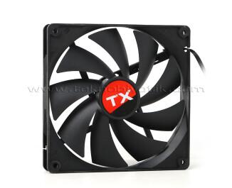 2 Adet x TX 14cm Siyah Sessiz Kasa Fanı (TXCCF14BK)