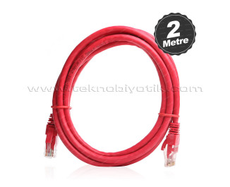 Dark 2m CAT6 CU AWG24/7 UTP Kırmızı Network Kablosu (DK-CB-NT6U200R)