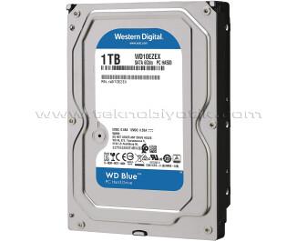 """WD 1TB Blue 3,5"""" SATA III 6Gbit/s 7200 RPM 64MB Cache (WD10EZEX)"""