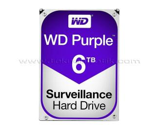 """WD 6TB Purple 3.5"""" 5400RPM 64MB SATA 3 7/24 Disk (WD60PURZ)"""