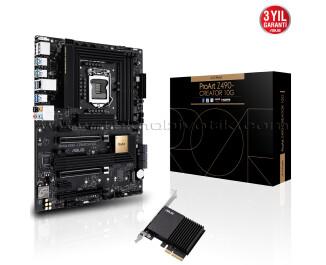 ASUS PROART Z490-CREATOR 10G INTEL Z490 LGA1200 DDR4 4600mhz M2 USB3.2  DP HDMI  Micro ATX Anakart