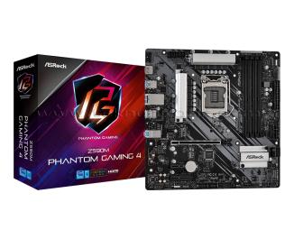 AsRock Z590M Phantom Gaming 4 - Intel LGA1200, RGB + ARGB, PCIe 4.0, mATX Anakart