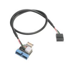 Akasa Internal USB 3.1 Gen2 to USB 3.1 Gen1 19Pin Dönüştürücü Kablo (AK-CBUB38-40BK)