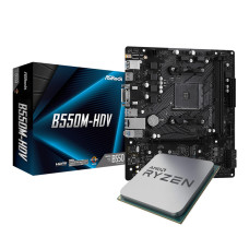AMD Ryzen™ 5 5600X 3.7GHz AM4 İşlemci (Kutusuz) + AsRock B550M-HDV AM4 Anakart (Kutusuz)
