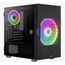 Aerocool Atomic ARGB Adreslenebilir RGB Fanlı, Dik Ekran Kartı Takılabilen, Tempered Glass Yan Panelli, USB 3.0 Bilgisayar Kasası (Ekran Kartı Sabitleme Aparatı Hediyeli!) (AE-ATMC)