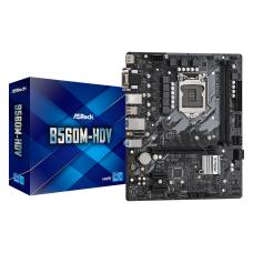 AsRock B560M-HDV Socket 1200, DDR4 5000MHz, USB 3.2 Gen1, PCIe 4.0, m.2, DVI, VGA, HDMI mATX Anakart