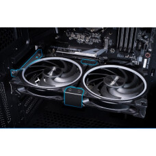 Akasa PCIe Slot İçin Ekran Kartı Soğutma 2x12cm Fan Bağlama Aparatı (AK-MX304-12BK)