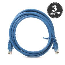 Dark 3m CAT6 CU AWG24/7 UTP Mavi Network Kablosu (DK-CB-NT6U300BU)
