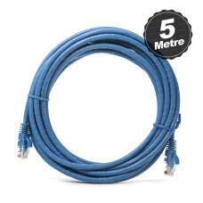 Dark 5m CAT6 CU AWG24/7 UTP Mavi Network Kablosu (DK-CB-NT6U500BU)