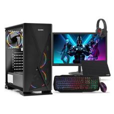 """Intel i3 10100F 3.6GHz, RX560 4GB, 8GB Ram, 240GB SSD, 24"""" Monitörlü Oyuncu Bilgisayarı"""
