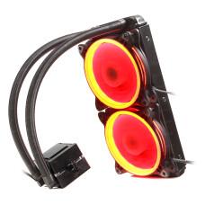 Dark AquaForce W242R Intel ve AMD Tüm Soketlerle Uyumlu Çift Fanlı 240mm Kırmızı LED'li Sıvı Soğutma Sistemi (DKCCW242R)