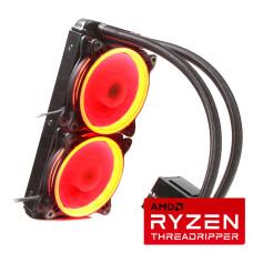 Dark AquaForce W242RTR4 AMD Threadripper İşlemciler ile Uyumlu Sıvı Soğutma TR4 Çift Fanlı 240mm Kırmızı LED'li (DKCCW242RTR4)