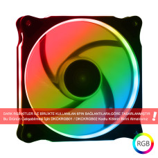 Dark 120mm Ultra Bright Ring RGB Ledli 6 Pin Kasa Fanı (RGB Kit ile Uyumlu!) (DKCF121RGB)