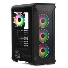 Dark Guardian PRO 4x12cm Adreslenebilir RGB LED Fanlı, Full Cam Yan ve Mesh Ön Panel, USB 3.0 Bilgisayar Kasası (DKCHGRPRO)