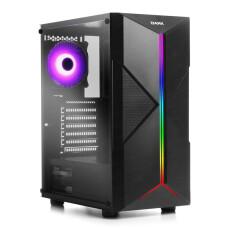 Dark X-FORCE 400W Toplam 3 Fanlı, 1xAdreslenebilir ARGB Fan + LED Şeritli USB 3.0,Akrilik Yan Panel, Bilgisayar Kasası (DKCHXFORCE400)