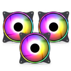 Dark Twister 3x12cm Adreslenebilir ARGB LED'li Kasa Fanı + 6 Fan Destekli ARGB Fan Çoklayıcı + Uzaktan Kumandalı Kasa Fanı Seti (DKCKARGB04)