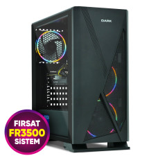 Teknobiyotik FR3500 Fırsat Sistemi - AMD Ryzen 5 1600 3.2GHz, RX560 4GB, 8GB Ram, 256GB m.2 SSD Oyuncu Bilgisayarı
