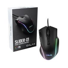 Galax SLIDER-01 RGB Oyuncu Mouse - 8 x Programlanabilir Makro Tuş, 7200DPI Hassasiyet, RGB LED (MGS01IA18RG2B0-GXLG)