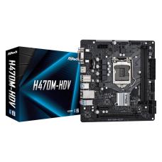 AsRock H470M-HDV Socket 1200, DDR4 2933MHz, USB 3.2 Gen1, DVI, VGA, HDMI mATX Anakart