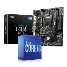 Intel Core i3-10100F 3.6GHz 10. Nesil İşlemci + MSI H410M PRO-E Socket 1200 DDR4 Anakart