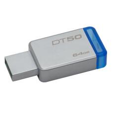 KINGSTON 64GB USB 3.1 Gen1(USB3.0) DATATRAVELER 50 (METAL/MAVİ) DT50/64GB USB Bellek