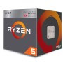 AMD Ryzen ™ 5 2400G 3.6GHz (Turbo 3.9GHz) Vega¹¹ Graphics AM4 İşlemci